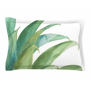 East Urban Home Viviana Gonzalez 'Botanical Vibes 03' Watercolor Sham; 20'' H x 30'' W x 1'' D