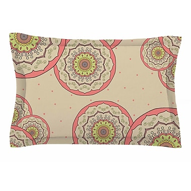 East Urban Home Cristina Bianco Design 'Pink Green Mandala Design' Illustration Sham