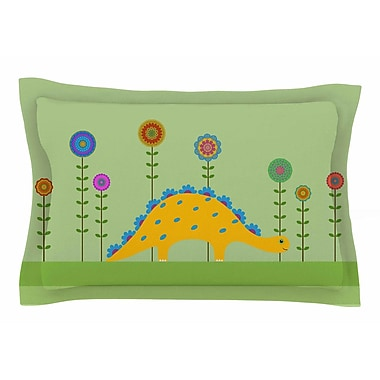 East Urban Home Cristina Bianco Design 'Cute Dinosaur' Illustration Sham; 20'' H x 40'' W x 0.25'' D