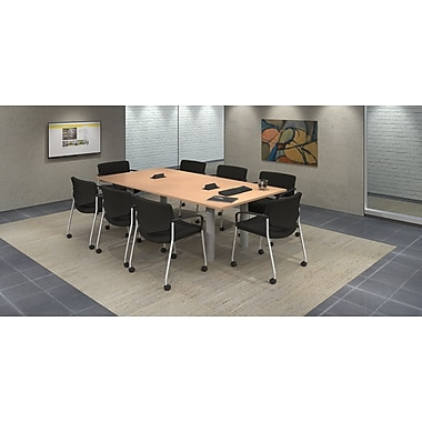 Trendway 9 Piece Rectangular Conference Table Set; Maple