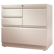 Trendway File Center 4-Drawer Lateral Filing Cabinet; Pebble