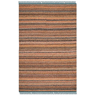 Ivy Bronx Sojourn Hand-Woven Light Pink/Gray Area Rug; 4' x 6'