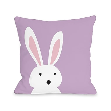 Harriet Bee Cary Bunny Ears Reversible Throw Pillow; 18'' H x 18'' W x 3'' D