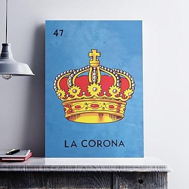 Ebern Designs 'La Corona Crown' Graphic Art Print on Cotton Canvas; 19'' H x 13'' W x 0.1'' D