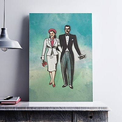 Ebern Designs 'La Dama Y El Catrin Couple' Painting Print on Paper; 17'' H x 11'' W x 0.1'' D