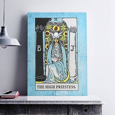 Ebern Designs 'Tarot High Priestess' Graphic Art Print on Cotton Canvas; 24'' H x 18'' W x 0.1'' D