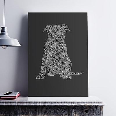 Ebern Designs 'Puppy Silhouette' Graphic Art Print on Paper Canvas; 17'' H x 11'' W x 0.1'' D