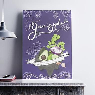 Ebern Designs 'Guacamole' Graphic Art Print on Paper Canvas; 7'' H x 5'' W x 0.1'' D