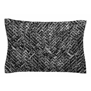 East Urban Home Susan Sanders 'Charcoal Gray Bamboo Weave' Photography Sham; King