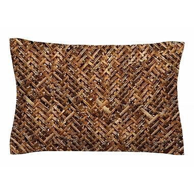 East Urban Home Susan Sanders 'Brown Bamboo Basket Weave' Photography Sham; 20'' H x 30'' W x 1'' D