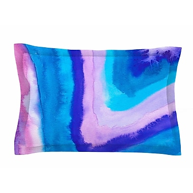 East Urban Home Viviana Gonzalez 'Agate Inspired Watercolor Abstract' Sham; King