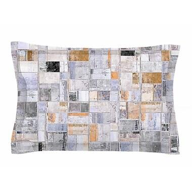 East Urban Home Susan Sanders 'Gray Tan Tile Squares' Photography Sham; 20'' H x 40'' W x 0.25'' D
