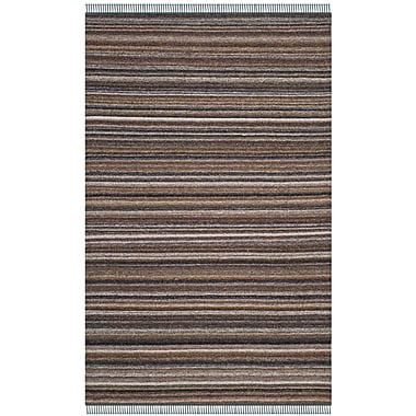 Ivy Bronx Sojourn Hand-Woven Gray/Purple Area Rug; 5' x 8'