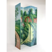 Red Barrel Studio Tinley Hand Painted Double Side Screen