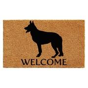 Red Barrel Studio Regner German Shepherd Doormat; 2' x 3'