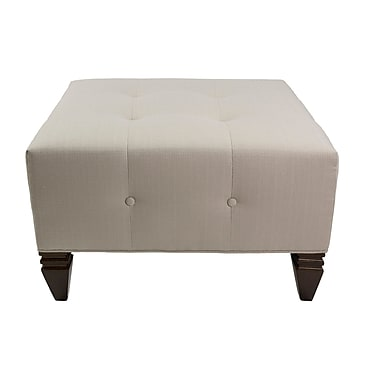 Darby Home Co Hobson Upholstered Square Ottoman; Mouse