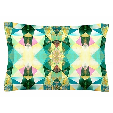 East Urban Home Pia Schneider 'Polygon Diamond II' Mixed Media Sham; 20'' H x 40'' W x 0.25'' D