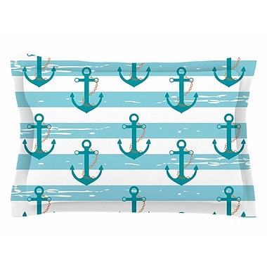 East Urban Home Afe Images 'Nautical Anchor' Illustration Sham; 20'' H x 40'' W x 0.25'' D