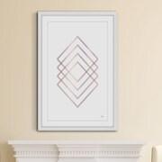 George Oliver 'Diamond Hologram' Framed Graphic Art Print ; 45'' H x 30'' W x 1.5'' D
