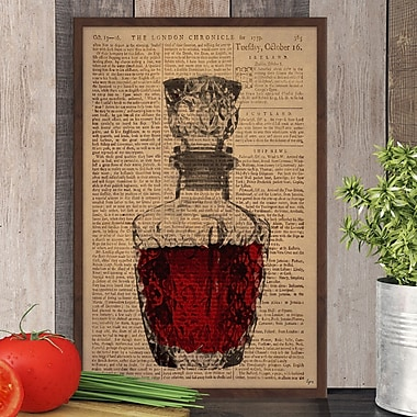 Latitude Run 'Rose Wine' Framed Graphic Art Print; 36'' H x 24'' W x 1.5'' D