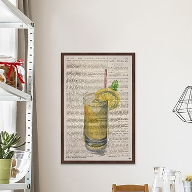 Latitude Run 'Whiskey Sour' Framed Watercolor Painting Print; 18'' H x 12'' W x 1.5'' D