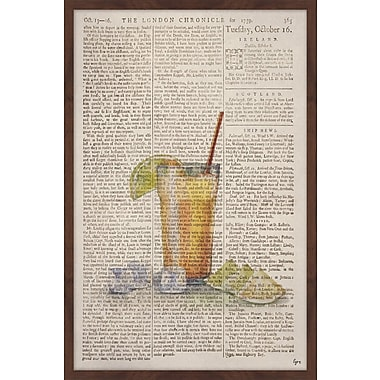 Latitude Run 'Tom Collins' Framed Watercolor Painting Print; 24'' H x 16'' W x 1.5'' D