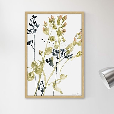 Winston Porter 'Blush Buds I' Framed Watercolor Painting Print; 24'' H x 16'' W x 1.5'' D