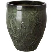 Emissary Fern Ceramic Pot Planter; 25'' H x 21'' W x 21'' D
