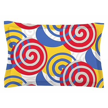 East Urban Home Patternmuse 'Dynamic Swirls Multi' Digital Sham; 20'' H x 40'' W x 0.25'' D