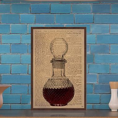 Latitude Run 'Brandy II' Framed Graphic Art Print; 36'' H x 24'' W x 1.5'' D