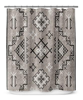 Loon Peak Cyrill Shower Curtain; Black
