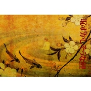 World Menagerie 'Japanese Koi' Graphic Art Print on Paper Canvas; 5'' H x 7'' W x 0.1'' D