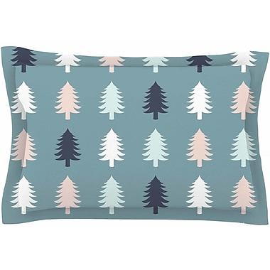 East Urban Home Afe Images 'Christmas Tree Silhouettes' Digital Sham; 20'' H x 40'' W x 0.25'' D