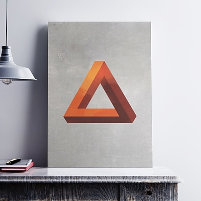 George Oliver 'Minimal Modern Triangle' Graphic Art Print on Paper Canvas; 19'' H x 13'' W x 0.1'' D