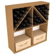 Red Barrel Studio Karnes Pine 96 Bottle Floor Wine Rack; Oak