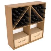 Red Barrel Studio Karnes Pine 96 Bottle Floor Wine Rack; Oak Satin
