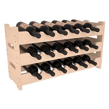 Red Barrel Studio Karnes Pine Mini Scalloped 18 Bottle Tabletop Wine Rack; Natural