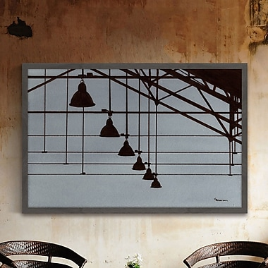 Williston Forge 'Industrial Geometry' Framed Painting Print; 12'' H x 18'' W x 1.5'' D