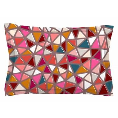 East Urban Home Pallerina Design 'Geo Mosaic Tile' Geometric Sham; 20'' H x 30'' W x 1'' D