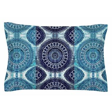 East Urban Home Nina May 'Blue Mandala Stripe' Digital Sham; 20'' H x 30'' W x 1'' D