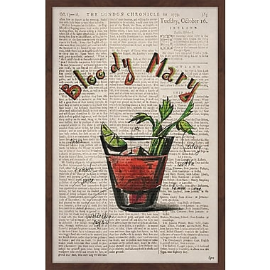 Ivy Bronx 'Bloody Mary Ingredients' Framed Watercolor Painting Print; 30'' H x 20'' W x 1.5'' D