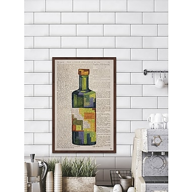 Ivy Bronx 'Secret Drink' Framed Watercolor Painting Print; 18'' H x 12'' W x 1.5'' D