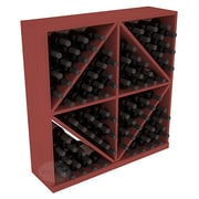 Red Barrel Studio Karnes Pine Diamond Storage 96 Bottle Floor Wine Rack; Cherry
