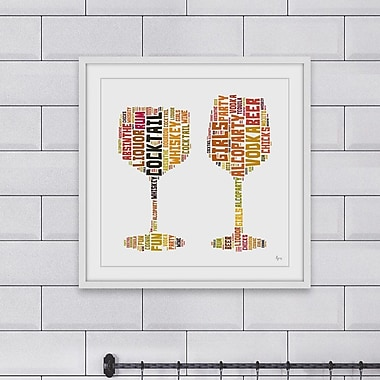 Ivy Bronx 'Alcoparty' Framed Painting Print; 40'' H x 40'' W x 1.5'' D