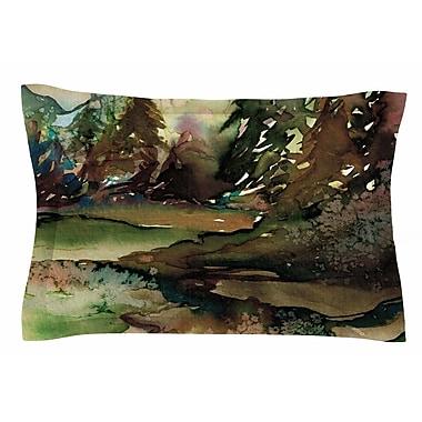 East Urban Home Ebi Emporium 'Never Leave the Path 1' Watercolor Sham; 20'' H x 40'' W x 0.25'' D