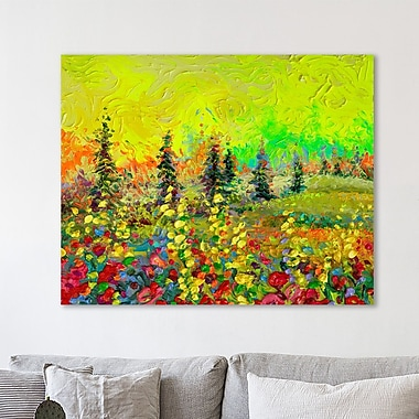 Ebern Designs 'Above the Tree Line' Painting Print on Wrapped Canvas; 12'' H x 15'' W x 1.5'' D
