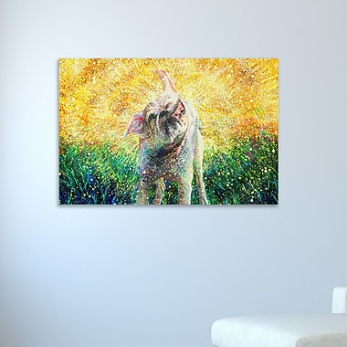 Ebern Designs 'Chloe' Painting Print on Wrapped Canvas; 12'' H x 18'' W x 1.5'' D