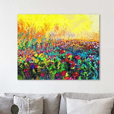 Ebern Designs 'Lil Cacti' Painting Print on Wrapped Canvas; 36'' H x 45'' W x 1.5'' D