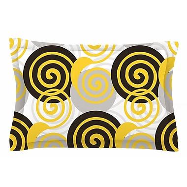 East Urban Home Patternmuse 'Dynamic Swirls Yellow' Digital Sham; 20'' H x 30'' W x 1'' D