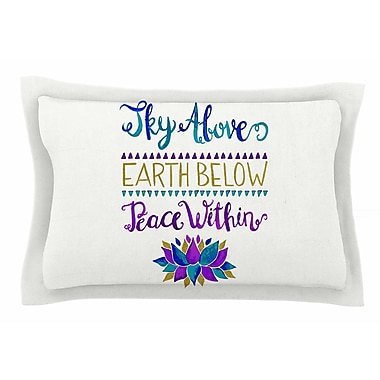 East Urban Home Pom Graphic Design 'Sky Above Peace Within' Typography Sham; King